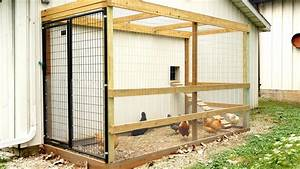 How We Made Our Chicken Coop Run