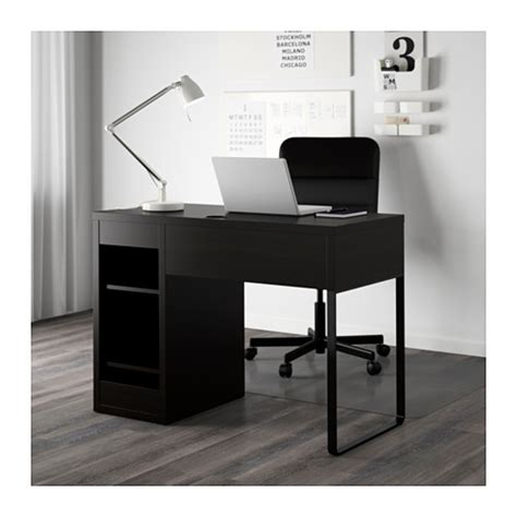 ikea bureau mike micke desk black brown 105x50 cm ikea