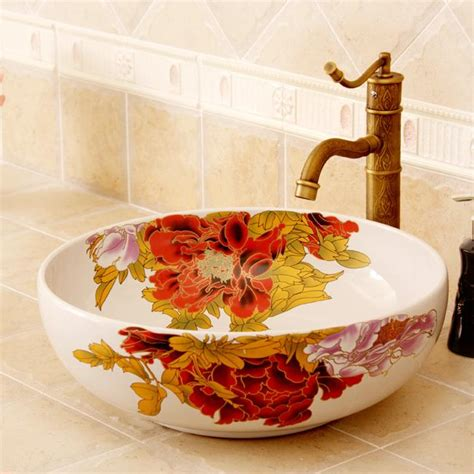 colored  floral butterfly design ceramic colored