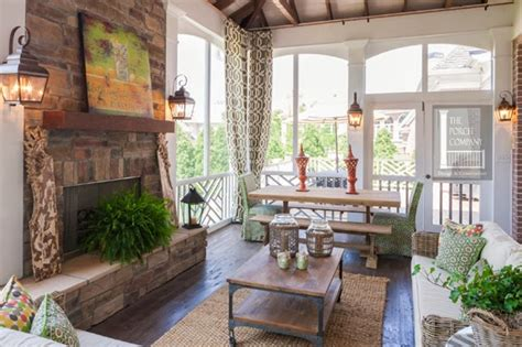 Screened Porches & Fireplaces