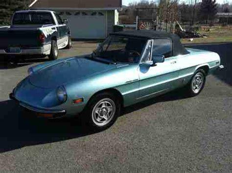 Sell Used 1982 Alfa Romeo Spider Veloce Convertible 2-door