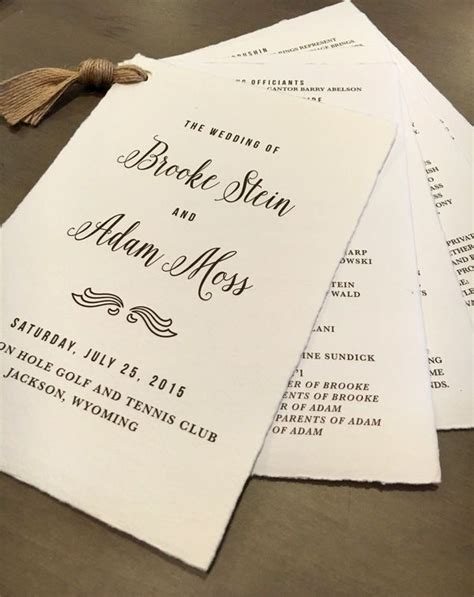 unique wedding program ideas for your ceremony traditional paper and unique wedding programs