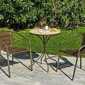 Table Ronde Exterieure : table ronde 60cm en bronze mosa que varese60 maison facile ~ Teatrodelosmanantiales.com Idées de Décoration