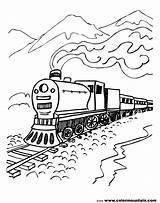 Train Coloring Pages Steam Locomotive Engine Drawing Csx Line Printable Getdrawings Diesel Getcolorings sketch template