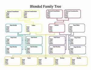 50 free family tree templates word excel pdf With template for a family tree chart