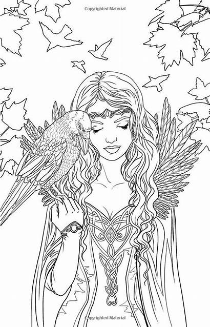 Coloring Pages Fairy Printable Elf Adults Adult