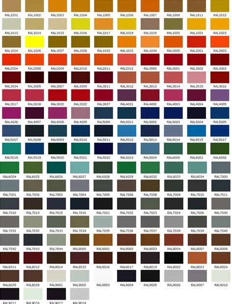 Ral 9010 Farbkarte by таблица цветов Ral