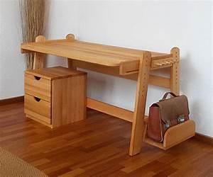 Schreibtisch Kinder Höhenverstellbar : die m belschmiede naturm bel jugendschreibtisch bj rn ~ Lateststills.com Haus und Dekorationen