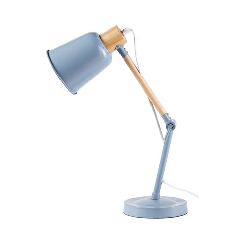 lampe de bureau en metal bleu pixie maisons du monde