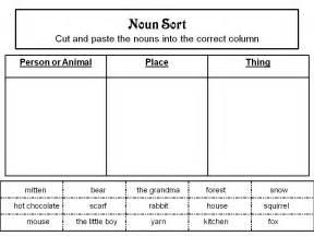 noun printable worksheets free printable cut and paste noun worksheets search meredith nouns