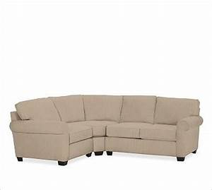 Buchanan right 3 piece small sectional with corner wedge for 3 piece sectional sofa with wedge
