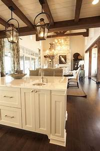 Exposed wood beams cottage kitchen southern living