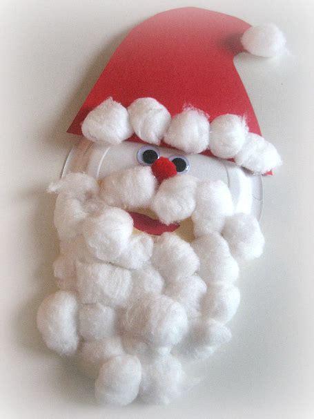 santa cotton balls red ted arts blog