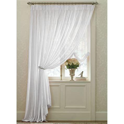white splendor batiste pinch pleated drape pair