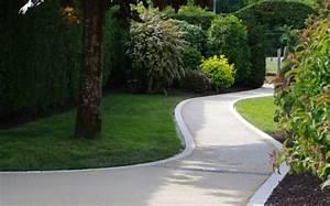 revetement allee quelles sont les possibilites de materiaux With allee de jardin pour voiture 11 beton lave