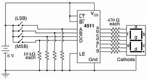 Integrated Thoughts  Seven Segment Display Using Cmos Ic