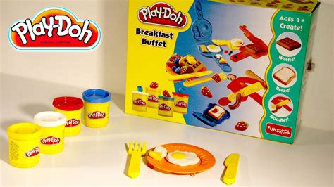 play doh cuisine play doh breakfast buffet children toys clay modeling how to play doh food