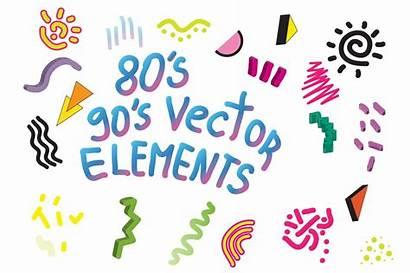 Vector Shapes Geometric 90 80 90s 80s