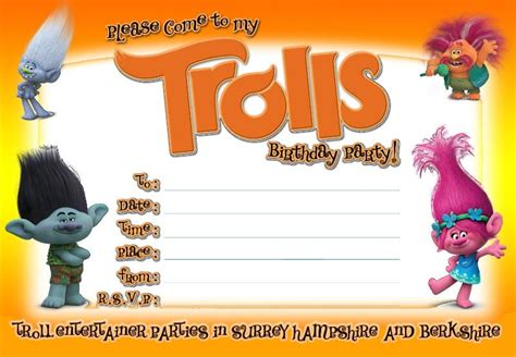 trolls invitation templates free free printable trolls invitation template dolanpedia