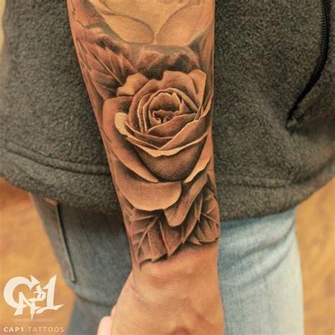 cap tattoos tattoos capone realistic rosebud