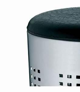 Panier A Linge Noir : panier linge tabouret chrome et noir ~ Teatrodelosmanantiales.com Idées de Décoration