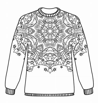 Christmas Jumpers Jumper Pattern Colouring Coloring Adult