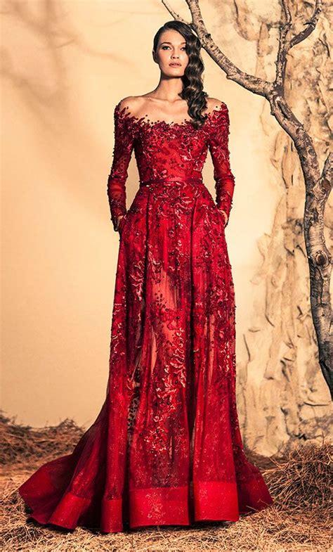 Ziad Nakad Haute Couture - Fall/Winter 2015 | Elegant red ...