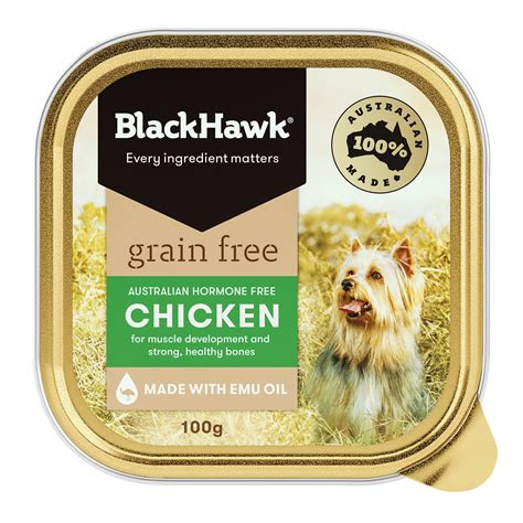 black hawk grain  chicken wet dog food