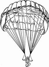 Parachute Drawing Parachutes Parachuting Paratrooper Drawings Definition Line Tattoo Military Airborne Drawn Tattoos Drop Sketches Jump Learnersdictionary Pen Neoseeker Tatting sketch template