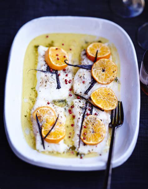 recette cuisine minceur poisson rôti aux agrumes et beurre vanillé pour 6