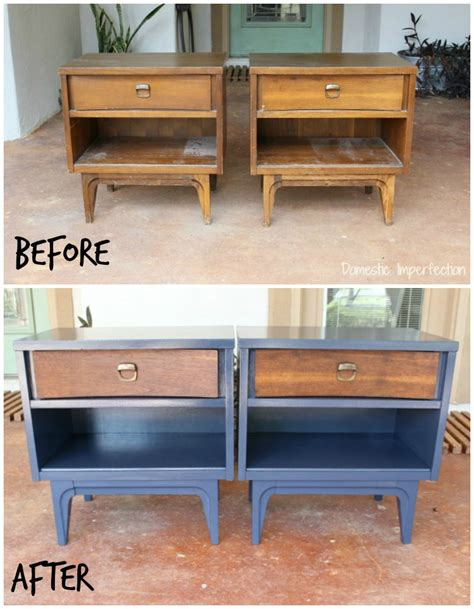Painted Nightstands by Nightstand Makeover In Six Easy Steps Domestic Imperfection