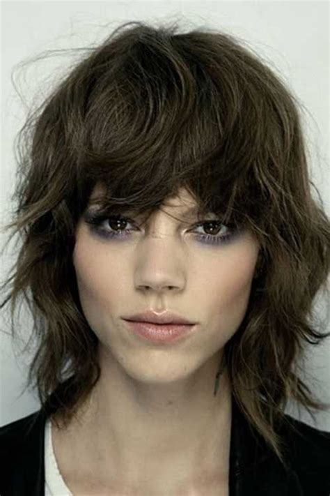 layered bob with bangs for thick hair the best short