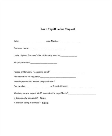 request letter  closing loan