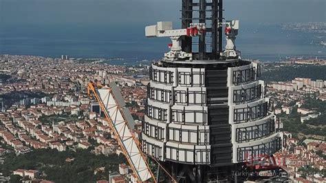 Yayına başlanan çamlıca kulesi'nin son hali havadan görüntülendi! Çamlıca TV-Radyo Kulesi inşaatında sona yaklaşılıyor ...