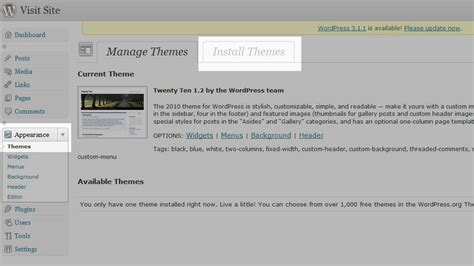Finding A New Theme In Your Wordpress Dashboard