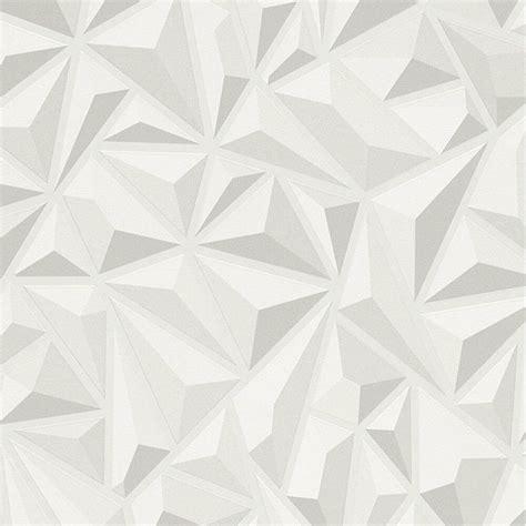 Grey 3d Wallpaper by 3d Effect White Grey Geometric Wallpaper Textured Luxury