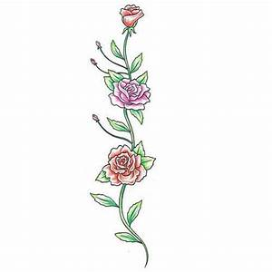 flowers and vines tattoo designs | Colorful Rose Vine ...