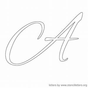 stencil letters cursive stencil letters org With cursive letter stencils free