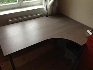 Ikea Schreibtisch Glas : ikea schreibtisch galant graubraun eckschreibtisch 160x120 cm berlin ikea m bel kaufen und ~ Watch28wear.com Haus und Dekorationen