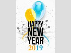 2019 Happy New Year Transparent PNG Pictures Free Icons