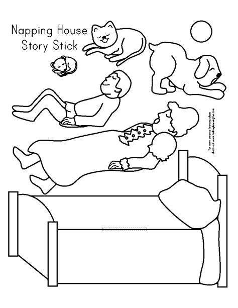 the napping house preschool activities retell of napping house template activities for the 371