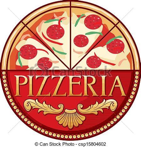 Decorator Pattern C Pizza by Vektor Clipart Pizzeria Design Etikett Pizzeria