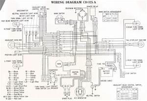 Honda Cd175a  1969  Wiring Schematic