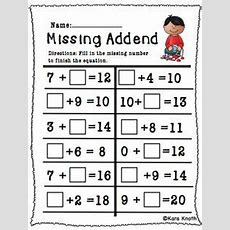 Find The Missing Addend!  First Grade Math  Pinterest  Literacy, Math And The Missing