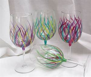Hand painted wine glasses kitchen tableware home decor for Kitchen colors with white cabinets with papier cadeau noel