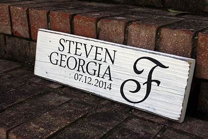 Sign Painted Signs Wood Date Names Table