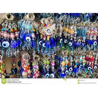 Turkish Nazar Boncuk Amulets At The Market Stock Image