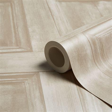 fine decor cream wood panel wallpaper departments diy