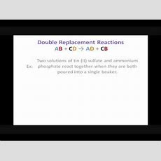 Predicting Products For Double Replacement Reactions Youtube