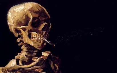 Cigarette Gogh Van Skeleton Cigarettes Smoking Skull
